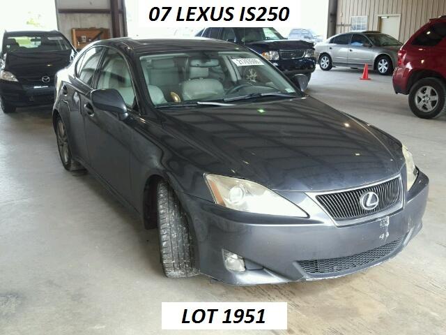 2007 lexus is 250 lot 1951 new sale price s w automotive parts inc. Black Bedroom Furniture Sets. Home Design Ideas
