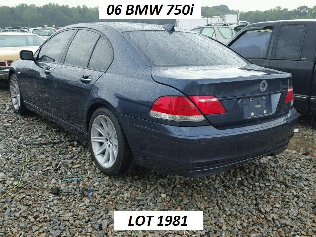 2006 BMW 750i LOT 1981NEW SALE PRICE