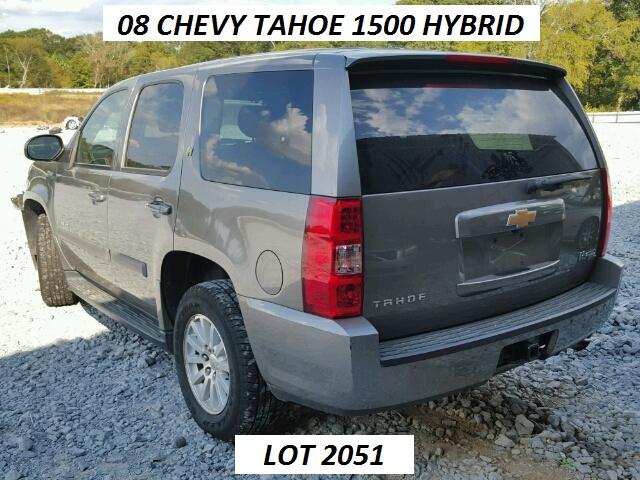 2008 chevrolet tahoe hybrid lot 2051 s w automotive parts inc. Cars Review. Best American Auto & Cars Review